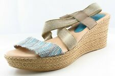 Spring Step Size 40 M Brown Ankle Strap Fabric Women Sandal Shoes