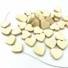 25X Wood Beads Heart-shape Natural color DIY decoration Jewelry Accessories 20mm