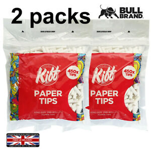 2x KIFF BULL BRAND KING SIZE PRE ROLLED JOINT ROACHES 900 PAPER CIGARETTE TIPS