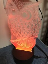 Owl Red Color Table Desk Lamp Gift Decor
