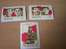 MALTA,SG 761/763.3VALS,U/MINT.EXCELLENT.