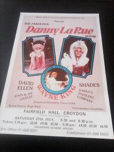 FAIRFIELD HALL CROYDON flyer DANNY LA RUE SHOW