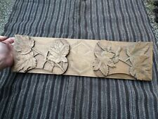 Antique Vintage Wood Carving Folding Wooden Bed Lap Breakfast Table Tray