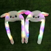 Glowing Rabbit Pinching Ear Hat Moving Airbag Bunny Cap Light Tik Tok DouYin US