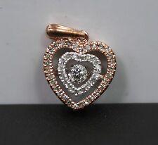 OTC 10k Rose Gold Floating Diamond Pendant App 1/3 cttw