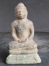 RARE Antique Bouddha en Bronze du Cambodge