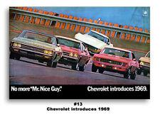 24x36 1969 Chevrolet Corvette Camaro SS Nova Chevelle Impala Ad Poster 396 Chevy
