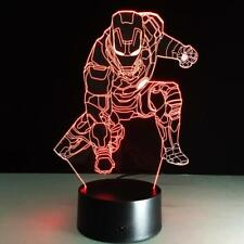 IRON MAN AVENGERS MARVEL 3D Acrylic LED 7 Colour Night Light Touch Desk Lamp 2