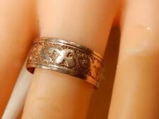 Heirloom Vintage wide patterned rose Gold 14K ring band Size 7 Weight 3.25 grams