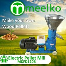 COMBO mini line home PELLET MILL 3HP 120mm Hammer MILL 2hp 1 PHASE wood