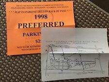 1998 Albuquerque International Balloon Fiesta Preferred Parking Pass & map
