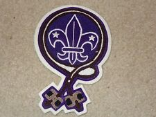 Boy Scout BSA Wood Badge Woodbadge Two Beads Log Axe Purple Chenille Patch