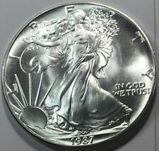 1987 $1 Silver American Eagle From Original Roll