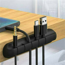 Silicone USB Cable Winder Desktop Management Clips Cable Holder Organizer Useful