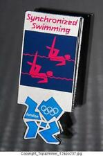 OLYMPIC PINS BADGE 2012 LONDON ENGLAND UK SPORT ICON PICTOGRAM SYNC SWIMMING PNK