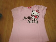 "Tee-shirt Rose ""Hello Kitty"",MC,T10ans,marque Hello Kitty,en TBE"