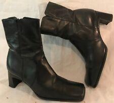 Carvela Black Ankle Leather Lovely Boots Size 38 (52v)