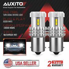AUXITO 1156 BA15S 7506 LED Reverse Brake Tail DRL Parking Light Bulb 6000K White