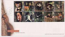 UNADDRESSED TALLENTS PMK GB ROYAL MAIL FDC 2004 WOODLAND ANIMALS STAMP SET