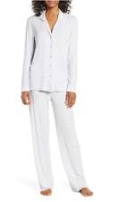 NWT Nordstrom Lingerie MOONLIGHT PAJAMAS Pants Set PURPLE COSMIC EVEN STRIPE XL
