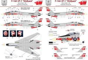 HAD Decals 1/48 Grumman F-14A Tomcat VF-1 Wolfpack USS Enterprise # 48218