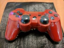 Official PlayStation 3 PS3 DualShock Dual Shock Wireless Controller Red Mint UK