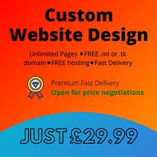 Website design service ⚫UNLIMITED PAGES⚫ FREE domain ⚫ FREE hosting.