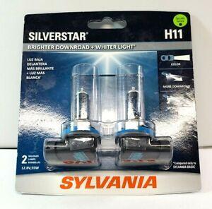 SYLVANIA H11 SilverStar High Performance Halogen Headlight Bulb, 2 Bulbs