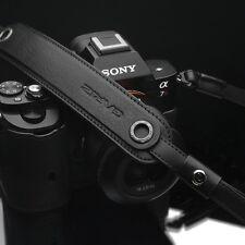 Gariz Black Leather Neck Strap XS-CHLSNBK2 for Digital Camera Sony Leica Fuji