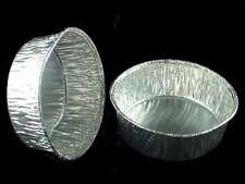 100 x Foil Dishes Steak Pie Small Custards Round Quiche 33mm/197cc Aluminium