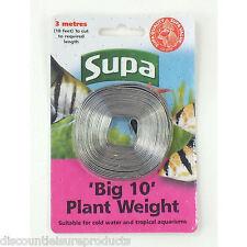 Supa ' Gros 10' Plante Poids 10ft Laisse Bande 3 Mètres Long Aquarium Poisson