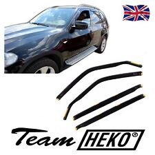 SUN SHADE + Wind Deflectors BMW X5 E70 5 DOOR  2006-2012 4 pcs HEKO Tinted