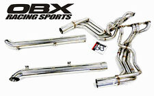 OBX Exhaust Headers + Side-Pipes For 1963-1982 C2 C3 Corvette 305 327 350 SBC V8