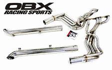 OBX Exhaust Headers + Side-Pipes For 1963-1982 C2 C3 Corvette 305 327 350 SBC V8