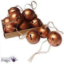 Gisela Graham METAL COBRE CASCABEL Caja de 12 Navidad Bola Decoración