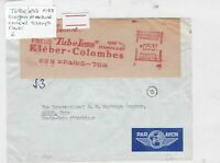 tubeless 1958 slogan machine cancel stamps cover Ref 9792
