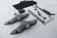 Pigeon Magnet Rotary HUNTING SET + Two Flocked Pigeon Decoys + 12v Battery