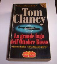 LA GRANDE FUGA DELL'OTTOBRE ROSSO Tom Clancy 1986 Superpocket romanzo libro