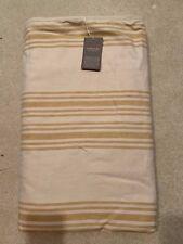 Goyuchi Rustic Linen King Blanket Yellow Stripes