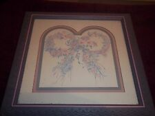 "Home Interior By Ava Freeman Double arch with double circle of flowers 13"" X 13"""
