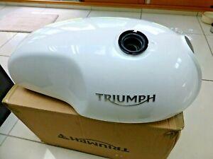 Triumph Thruxton R fuel gas tank in pearl white *Mint*