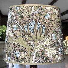 William Morris Artichoke - Medium Handmade Oval Lampshade Table Lamp