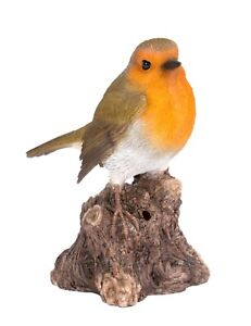 Singing Robin on Stump Highly Detailed Home or Garden Decoration