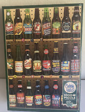 Cobble Hill 1000 Piece Beer Collection Puzzle.  New in wrapper.  Poster Inside.