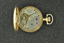 VINTAGE 3/0 SIZE ELGIN HUNTING CASE POCKET WATCH GRADE 417 FROM 1916 KEEPS TIME
