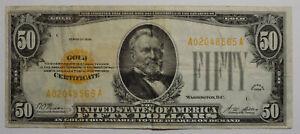 Series 1928 $50 Gold Certificate VF