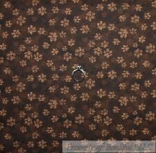 BonEful Fabric FQ Cotton Quilt Brown Tone Tonal Small Dog Cat Paw Print Little S