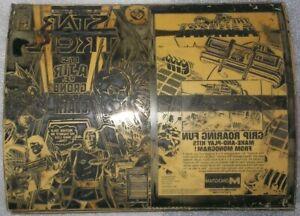 1986 STAR TREK #25 ORIGINAL COVER PRINTING PLATE METAL DC COMICS CAPTAIN KIRK