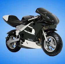 MotoTec Gas Pocket Bike Mini Ride On Motorcycle For Boys & Girls Ages 13+ BLACK