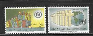 NICARAGUA - C452-C453 - MH - 1961 - WORLD REFUGEE YEAR